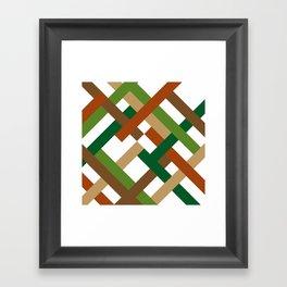 "Geometric Print ""Broken Weave"" Framed Art Print"