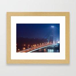 Bridge in fog Framed Art Print