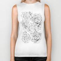 roses Biker Tanks featuring roses by iphigenia myos