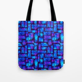 Blue watercolor brush Tote Bag