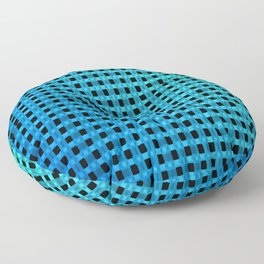 Small and little bluish pattern Floor Pillow