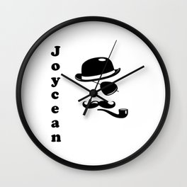 """Joycean"" James Joyce Print Wall Clock"