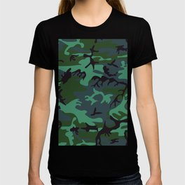 camouflage green T-shirt