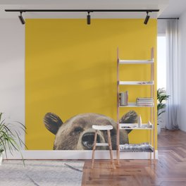 Bear - Yellow Wall Mural