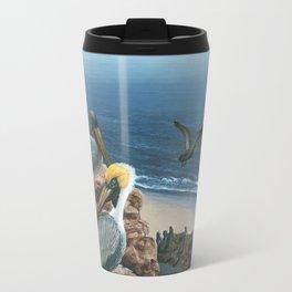 Brown Pelicans Travel Mug