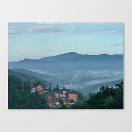 """""""Bittersweet View of Smoky Mountains"""" Photography by Willowcatdesigns Canvas Print"""