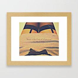 Illusion+Pleasure=? Framed Art Print
