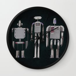 Three robots Wall Clock