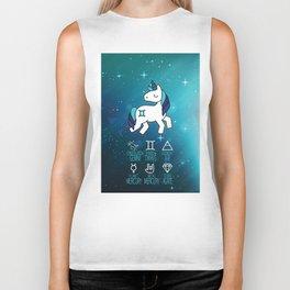 Gemini Unicorn Zodiac Biker Tank