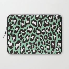 Mint Leopard Laptop Sleeve