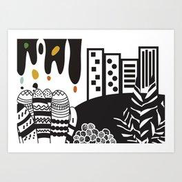 Black and white landscape Art Print