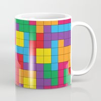 tetris Mugs featuring Tetris Attack by Shannon's Sketchfest