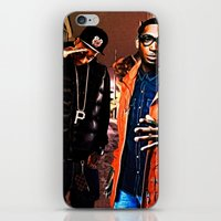 wiz khalifa iPhone & iPod Skins featuring Wiz & Tempah by D77 The DigArtisT