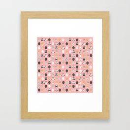 BUNNIES ((melon)) Framed Art Print