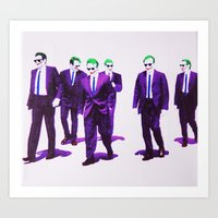 dc comics Art Prints featuring JOKER DOGS reservoir dogs batman dark knight rises dc comics by Radiopeach