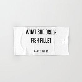 Fish fillet Hand & Bath Towel