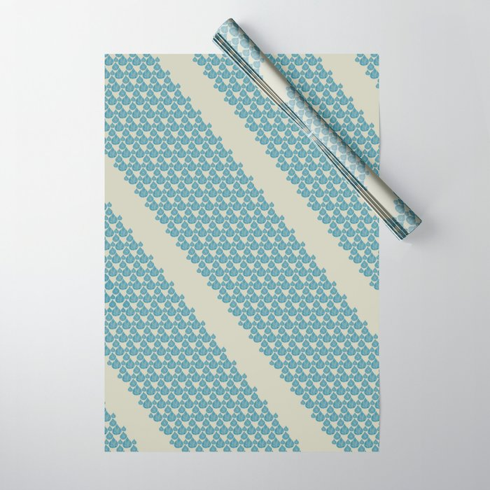 Blue drops Wrapping Paper