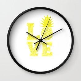 Pineapple fruit of love Wall Clock