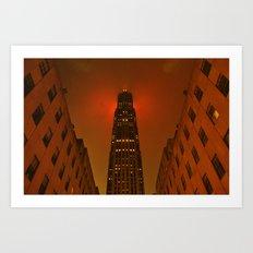 Rockefeller Center in the Rain Art Print