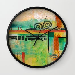 Abstract Landscape II Wall Clock