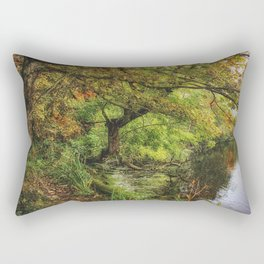 Along The Lake Rectangular Pillow