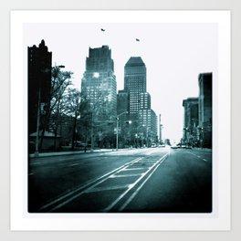 Broad Street View B&W Art Print
