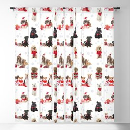 CHRISTMAS DOGS Blackout Curtain
