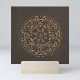 Copper, Siver, and Gold Mandala Mini Art Print