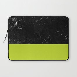 Lime Punch Meets Black Marble #1 #decor #art #society6 Laptop Sleeve