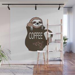 Coffee Sloth Wall Mural