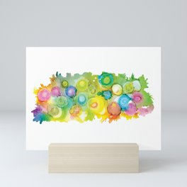 Alcohol Ink - Rainbow Landscape Mini Art Print
