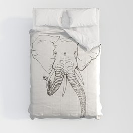 Conjoined Elephant Comforters