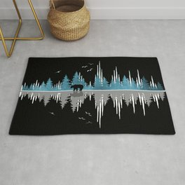 The Sounds Of Nature - Music Sound Wave Rug