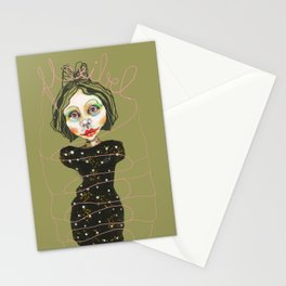 flexible girl Stationery Cards