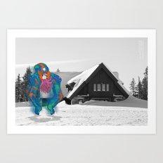 Unseen Monsters of Mount Shasta - Tooschtick Huntsie Art Print