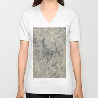 sand V-neck T-shirts featuring Sand by Mario Sa