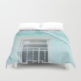Blue in NYC #2 Duvet Cover