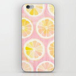Orange Slices Pastel Fruit iPhone Skin