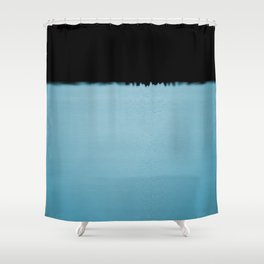 Black n Blue Shower Curtain