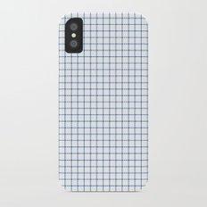 Blue on White Grid Slim Case iPhone X
