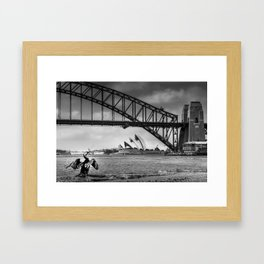 Bridge's, Bird's and Opera Houses Framed Art Print