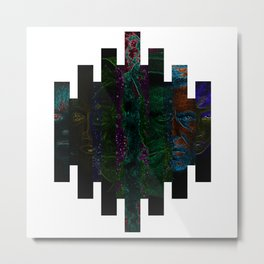 Faces of Outer Space Metal Print