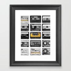 Retro Tapes Framed Art Print