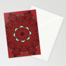 Henna Mandala Neon Blue Purple Stationery Cards