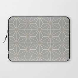 Mindful gray Japanese Asanoha (Hemp) pattern Laptop Sleeve