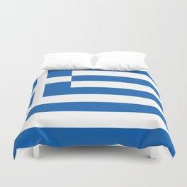 Flag of Greece Duvet Cover
