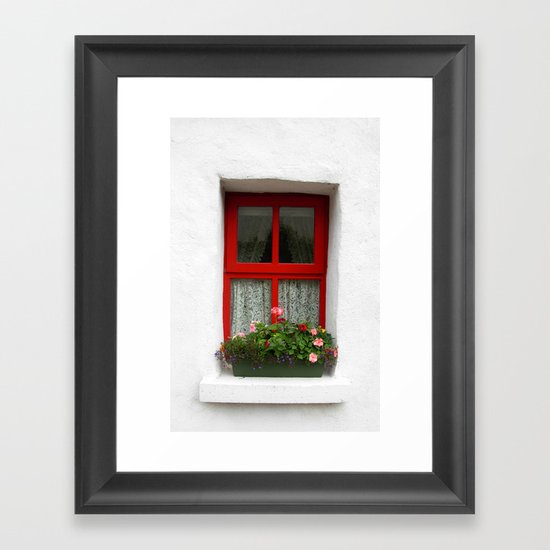 Through The Window Framed Art Print