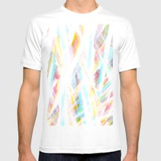 Color Rays White Mens Fitted Tee MEDIUM