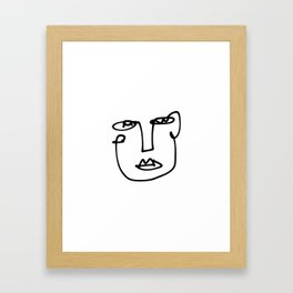 Faces Collection - Franca Framed Art Print