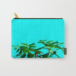 Good Luck Succulent Tree on Sky Blue Carry-All Pouch
